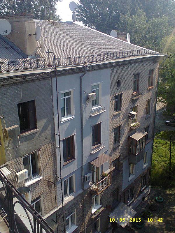 Утепленный пенопластом фасад, через несколько лет